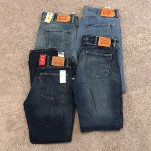 Levi's Jean Men's 38x34 lot of 4 501 511